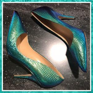 Kate Spade NWOB Holographic Mermaid Heels